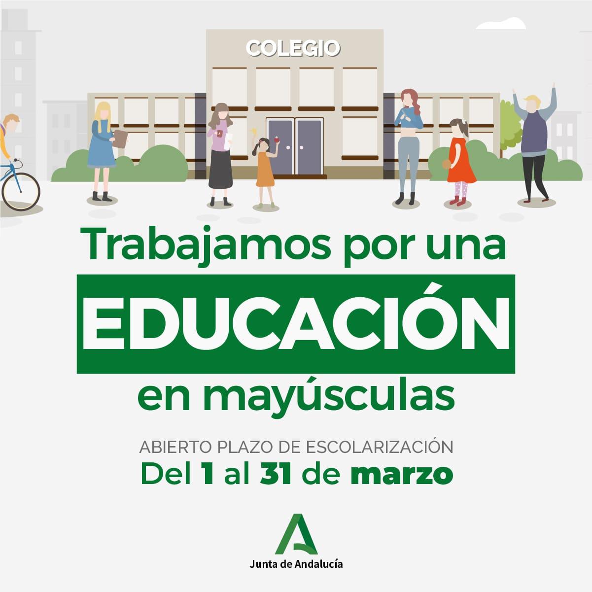 ABIERTO PLAZO DE ESCOLARIZACIÓN PARA SOLICITUDES DE ESO Y BACHILLERATO DEL 1 AL 31 DE MARZO