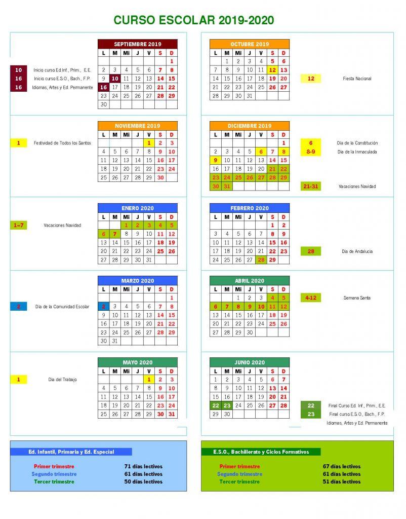 Calendario Laboral Jaen 2020.Etpoep Calendario Escolar Portal De La Red Provincial De Orientacion