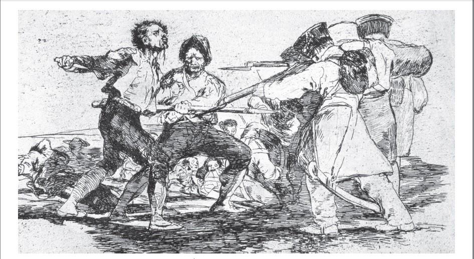 """Grabado de la serie de los """"Desastres de la Guerra"""" de Francisco de Goya."""