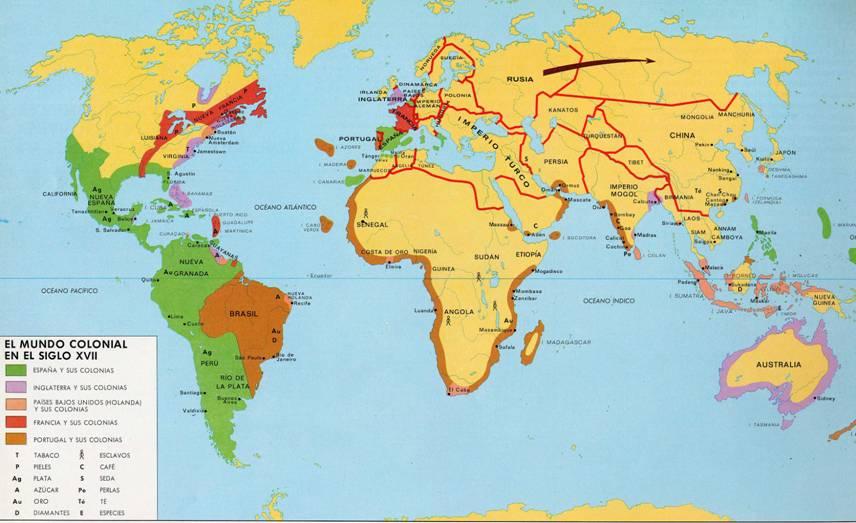 Imperios coloniales siglo XVII