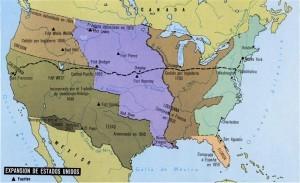 Expansión territorial de los EEUU durante el siglo XIX