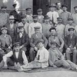 Estación Málaga trabajadores 1903