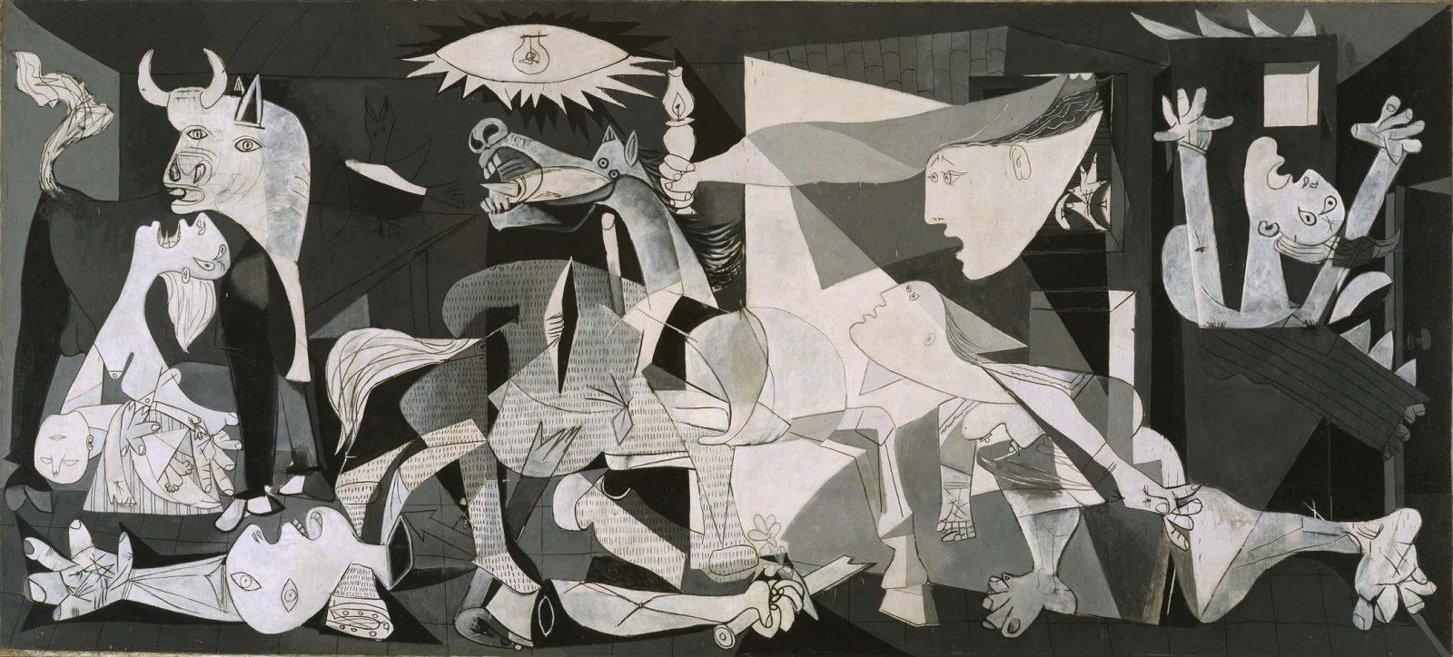 Guernica, cuadro de Pablo Picasso adquirido por el Estado Español en 1937 y conservado actualmente en el Museo Reina Sofía de Madrid.