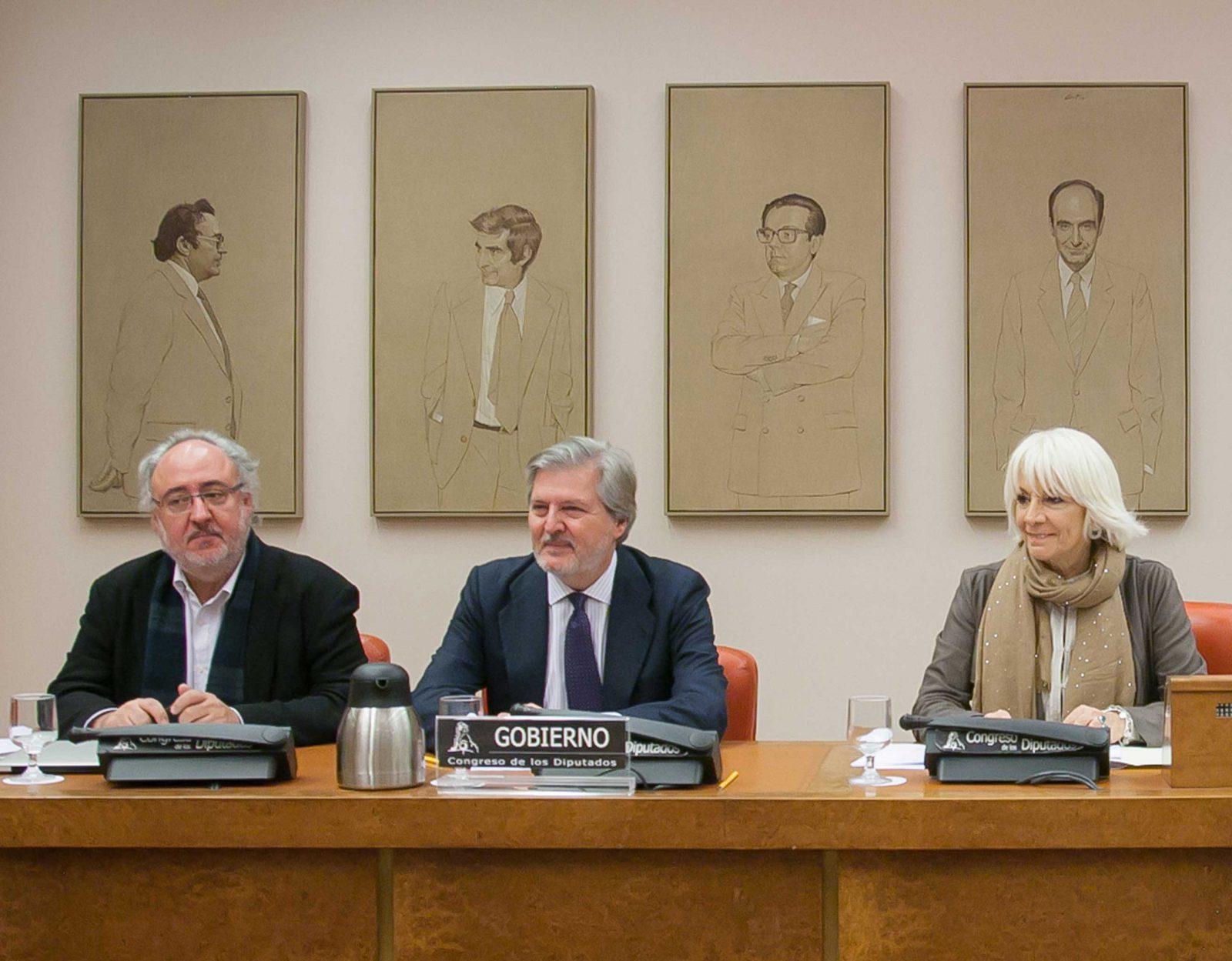 Rueda de prensa del ministro de Educación Íñigo Méndez de Vigo.