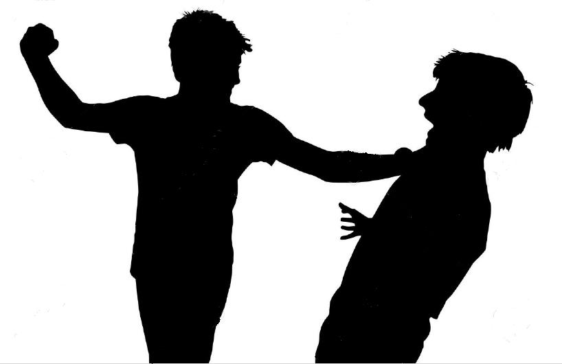 Silueta agresión física