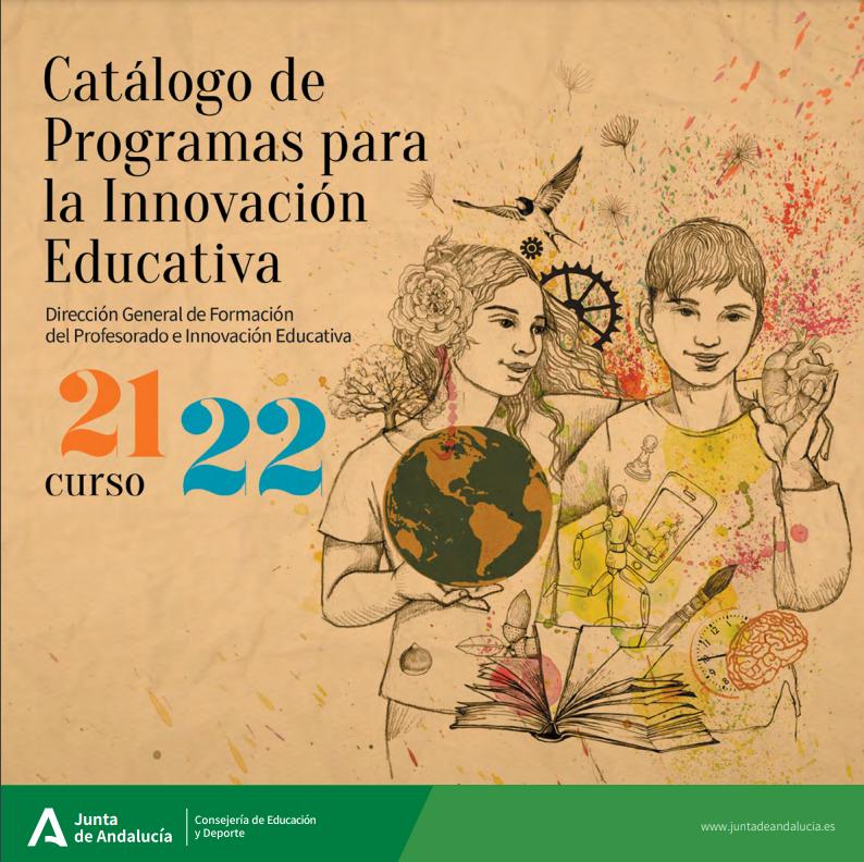 Captura de pantalla Catálogo de Programas para la Innovación Educativa Consejería de Educación y Dep
