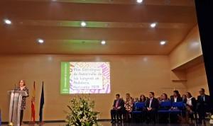 La Consejera de Educación durante su intervención en la presentación del PEDLA