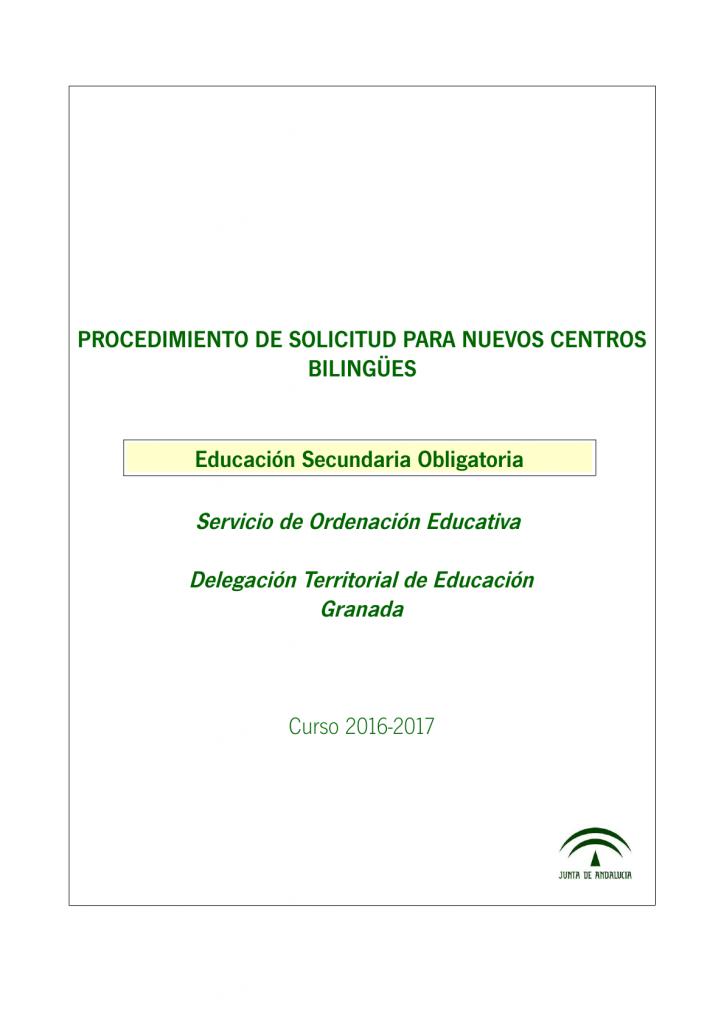 SECUNDARIA - INFORMACION SOLICITUD NUEVOS CCBB