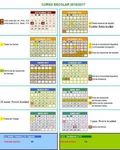 calendario escolar 16 17